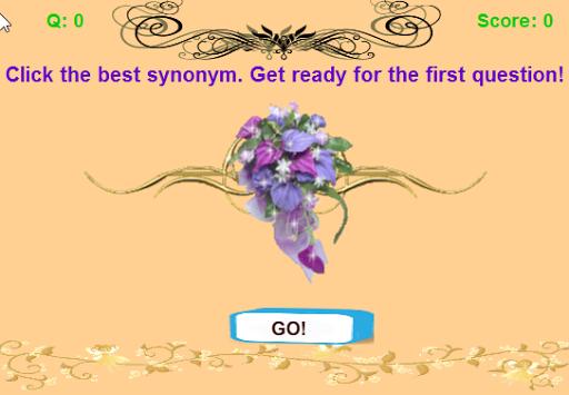 Educational Synonym Word Quiz