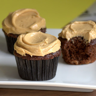 Chocolate Banana Cupcakes with Peanut Butter Frosting Recipe
