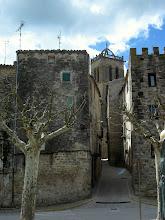 Photo: Sta.Coloma Queralt, al fons Campanar esglesia gótica