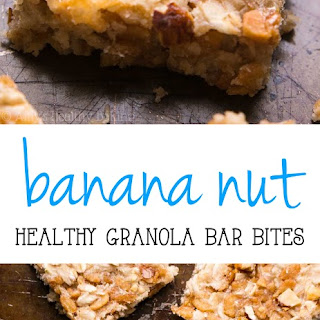 Banana Nut Granola Bar Bites