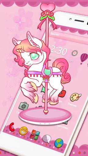 Cute Carrousel Unicorn Theme for PC