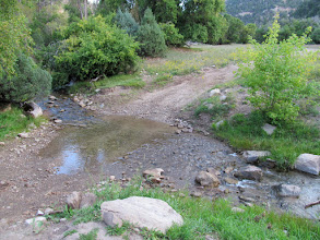 Photo: Easy crossing of Range Creek