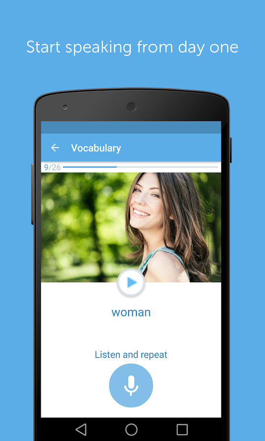 Learn to speak English with busuu- screenshot