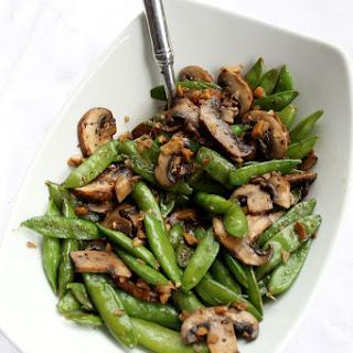 Ginger Snap Peas and Mushroom Sauté