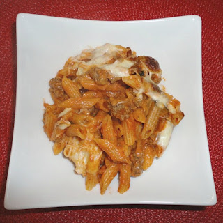 Baked Ziti with Ground Turkey Sausage