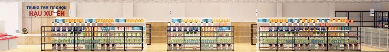 thiết kế siêu thị mini của chị Xuyện rất hợp lý