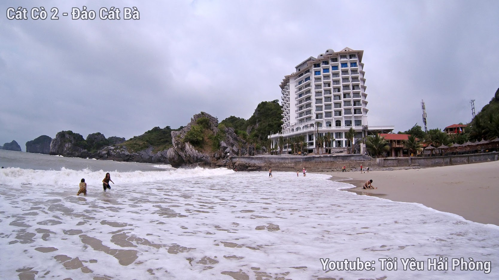 bãi tắm cát cò 2 ở Cát Bà Hải Phòng 2019 2