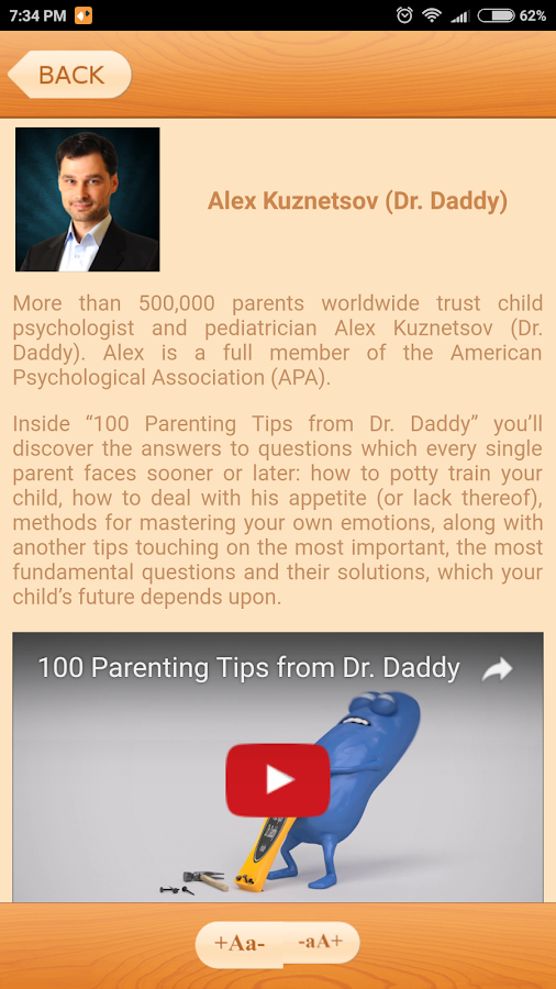 100 Parenting Tips- screenshot