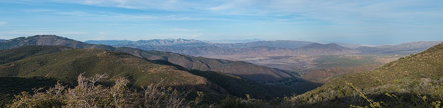 Photo: Looking down on Anza Borrego SP