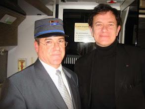 Photo: quelques heures avant une rencontre avec le PSG ?      Je@nnot et Francis Huster
