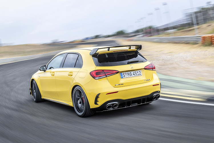 The new A45 S rolls into town as the king of hot hatches. Picture: SUPPLIED