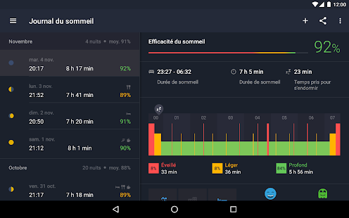 Sleep Better Runtastic Dormir Capture d'écran