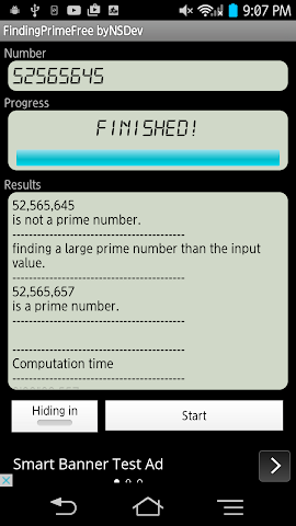 android FindingPrimeFree byNSDev Screenshot 1