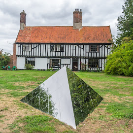 Garden Sculpture by Adele Price - Buildings & Architecture Homes ( triangles, reflections, buildings, lines,  )