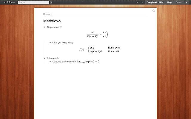 Mathflowy: TeX equations for Workflowy