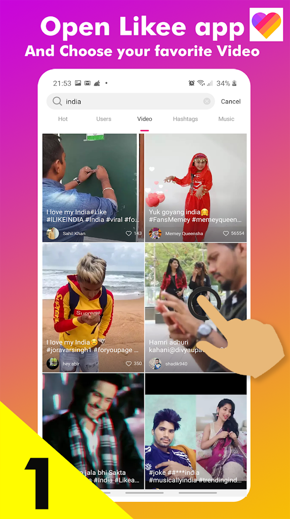 Video Downloader For Likee Without Watermark Latest Version Apk Download Download Likee Likeedownloader Apk Free