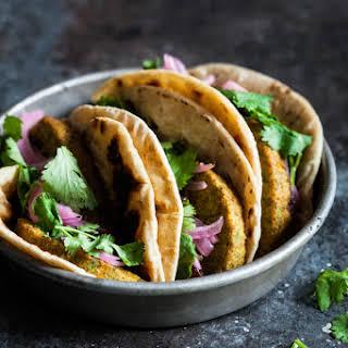 Bombay Wraps with Apple Raisin Chutney & Quick Pickled Onions.