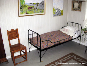 Photo: Blinda Kalles sängplats i Stigtomta fattighus. Foto Mats Hedblom 2011.