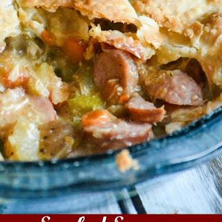 Smoked Sausage & Chicken Creole Pot Pie.