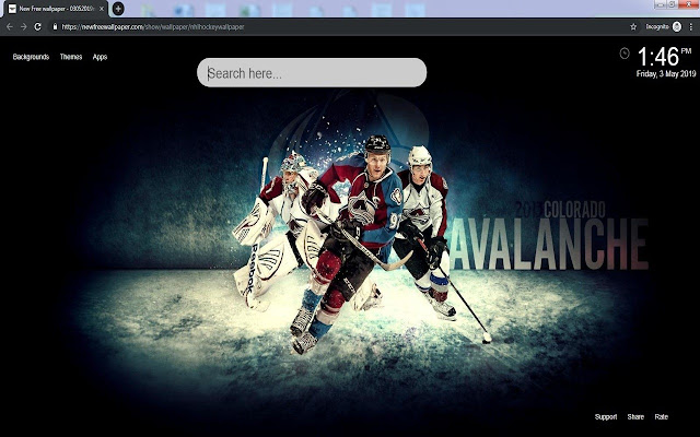 NHL Hockey HD Wallpapers New Tab Theme