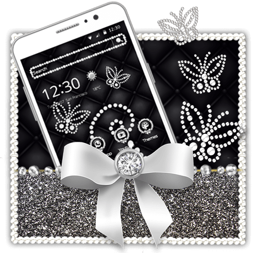 Silver Diamond Butterfly Theme