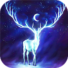 Night Bringer : Magic glowing deer live wallpaper icon