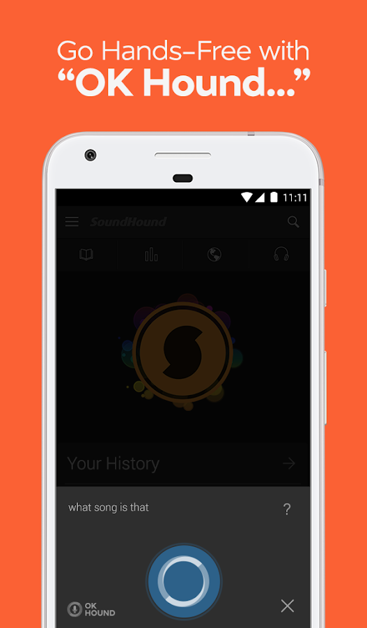 SoundHound Music Search – snimka zaslona