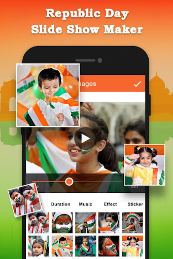Republic Day Slideshow Maker - 26 Jan Movie Maker 1.0 screenshots 1