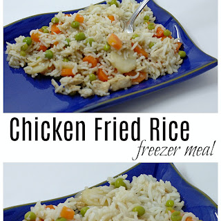 Chicken Fried Rice Freezer Meal.