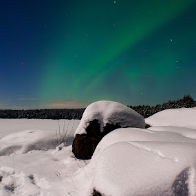 by Morten Johnsrud - Landscapes Weather ( sony, winter, aurora, norway, a200 )
