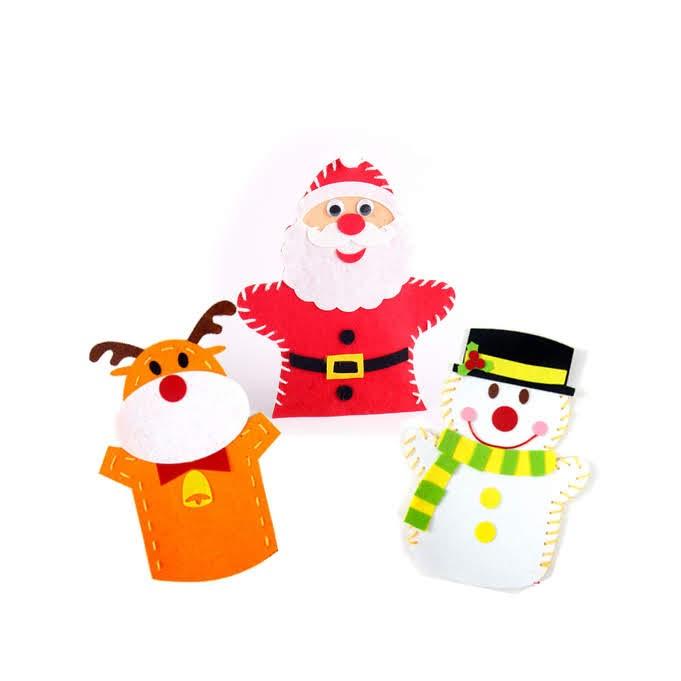 戟絨聖誕手偶套裝A款