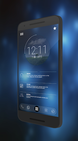 android Curval Wave for KLWP Screenshot 0