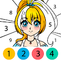 Anime Color by Number - Anime Coloring Book icon
