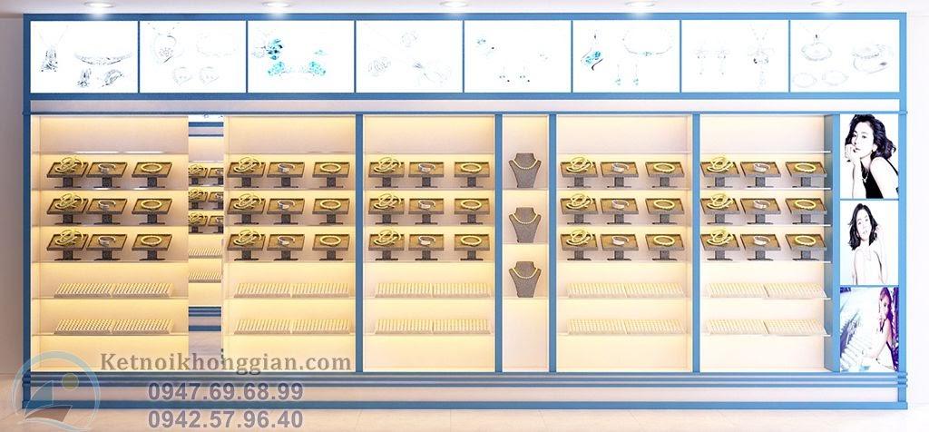 thiết kế nội thất cửa hàng bạc