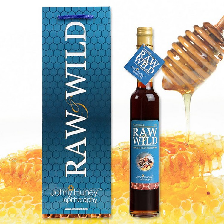 John Huney Raw Wild Golden Black Honey 530gm by Supermodels Secrets