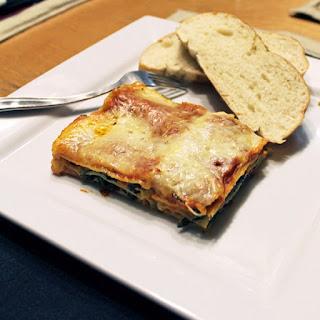 Vegetarian Spinach Lasagna.