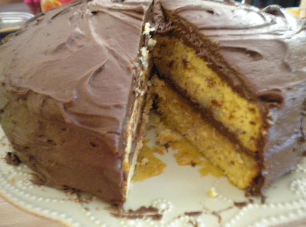 Banana Layer Cake With Chocolate Syrup Frosting Recipe