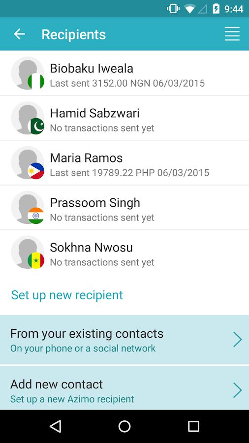 Azimo Money Transfer - screenshot
