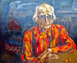 Photo: Liepojos muziejaus įkūrėjo Janio Sūdmalio portretas, paskutiniai gyvenimo metai.