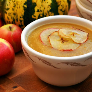 Roasted Apple and Winter Squash Soup.