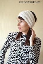 Photo: вязаная женская повязка на голову