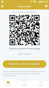 Capricoin Mobile Wallet- screenshot thumbnail