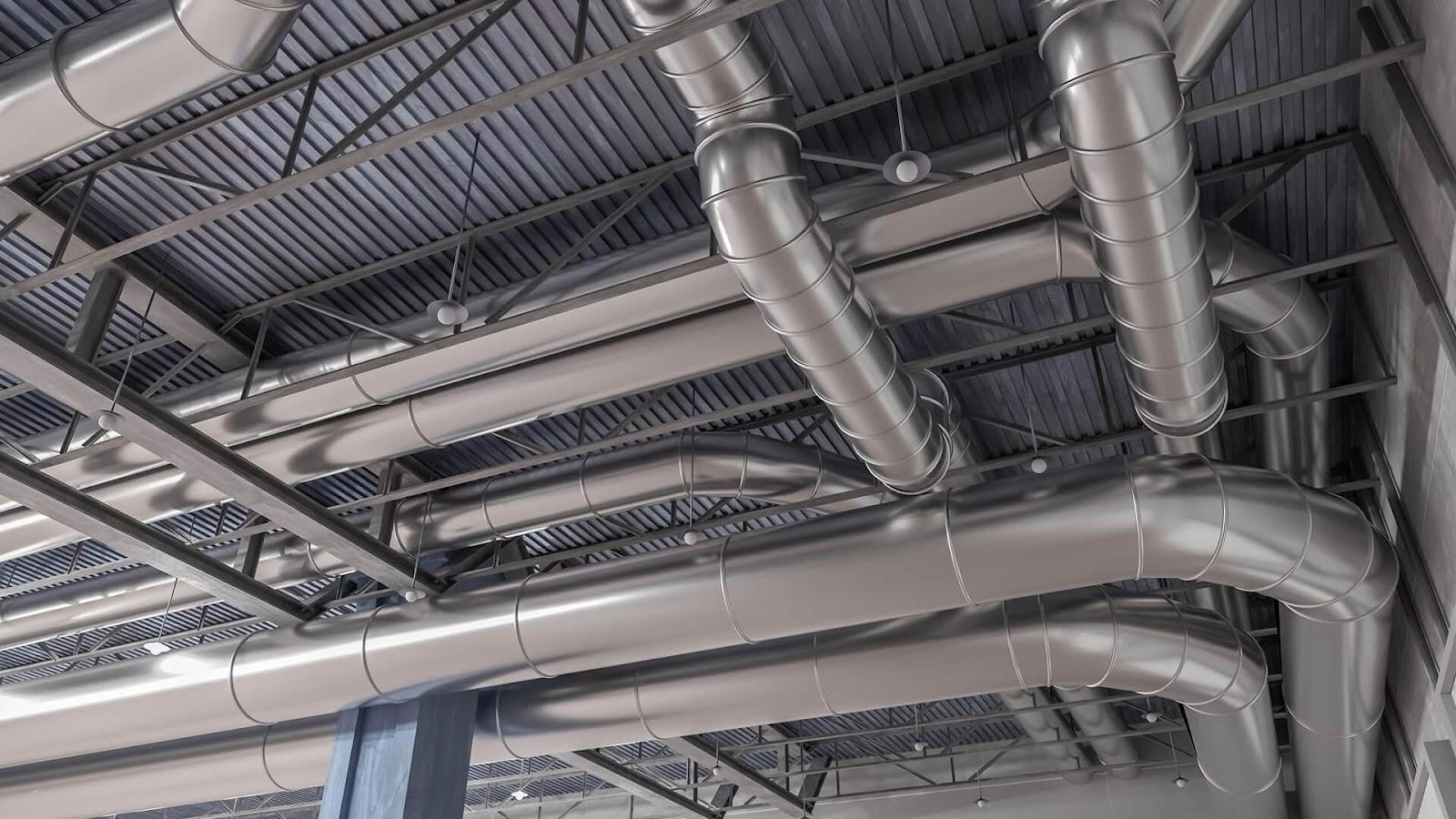Thép ống mạ kẽm được ứng dụng làm hệ thống dẫn khí