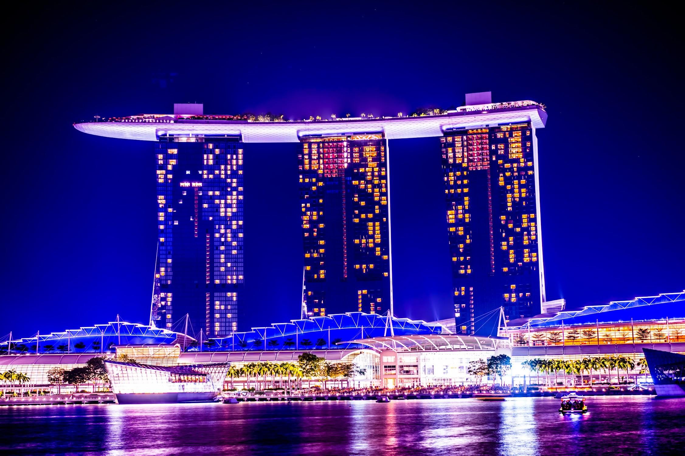 シンガポール マリーナ・ベイ・サンズ 夜景4