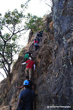 Photo: Rock Patch on the way to Rajgad Balle Killa ....but no need to worry ...now railings are installed on it till top.... :)