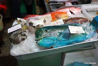 Photo: Porcupine and parrot fish... on Makish Public Market