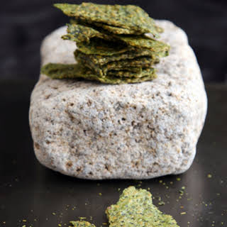 Raw Avocado and Golden Flax Crackers.