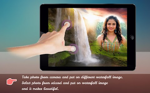 Natural Waterfall Photo Frame screenshot 0