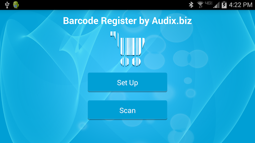 Audix Barcode Register