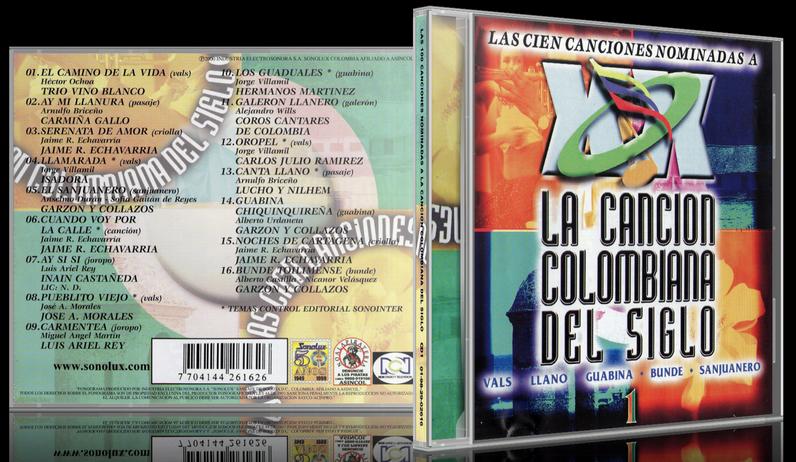 Varios Artistas - Las 100 Canciones Nominadas A La Canción Colombiana Del Siglo CD 1 (2000) [MP3 @320 Kbps]